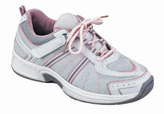 Women's Athletic - Tie-less Lace - Washable - Pink and Grey