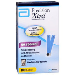 Precision Xtra Glucose Test Strips - 100 ct. - Total Diabetes Supply