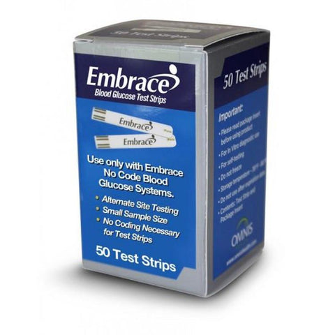 Embrace Test Strips - 50ct. - Total Diabetes Supply