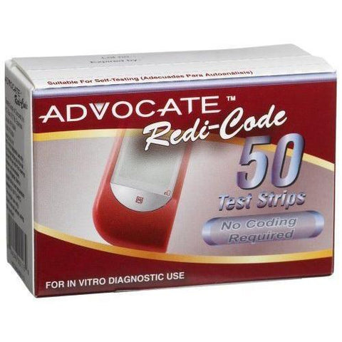 Advocate Redi-Code Glucose Test Strips - 50 ct. - Total Diabetes Supply