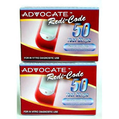 Advocate Redi-Code Glucose Test Strips - 100 ct. - Total Diabetes Supply