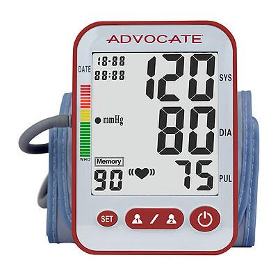 Advocate Upper Arm Automatic Large Cuff Blood Pressure Monitor - SPBP-04