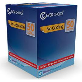 Clever Choice Auto-Code Glucose Test Strips - 50 ct.