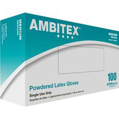 Ambitex Non-sterile Powdered General Purpose Latex Glove Medium - 100/box