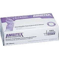 Large, Synth Vinyl, Powder-free Exam Gloves - 100/box