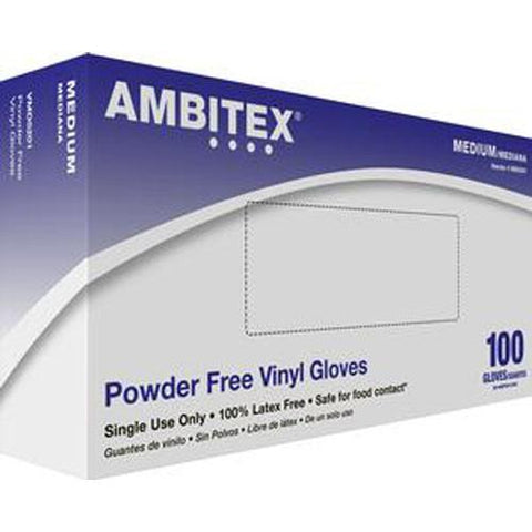 Ambitex Non-sterile Powder-free General Purpose Vinyl Glove X-large - 100/box