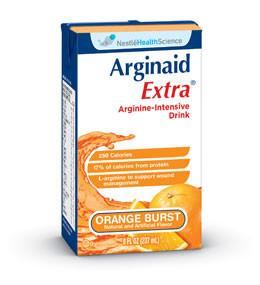 Nestle Healthcare Nutrition Arginaid Extra -  Arginine-Intensive Orange Burst Flavor Drink 8oz Brik Pak,