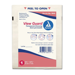 "View Guard Transparent Dressings Sterile (2 3/8"" X 2 3/4"") -100ct."