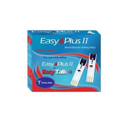 Easy Plus II Glucose Test strips - 50 ct. - Total Diabetes Supply