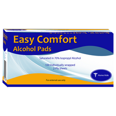 Easy Comfort Alcohol Prep Pads - Box of 100 ct.