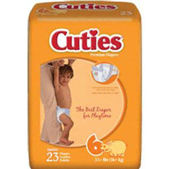 Prevail Cuties Baby Diapers Size 6, Over 35 lbs - Pack of 23
