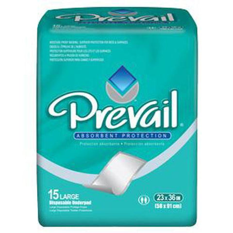 Prevail Fluff Disposable Underpads 23 x 36 - Case of 150