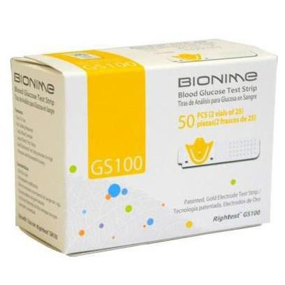 Bionime GS100 Test Strips - 50 ct. - Total Diabetes Supply
