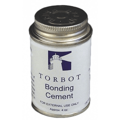 Torbot Liquid Bonding Adhesive Cement with Brush in Cap, Latex 4 oz Can