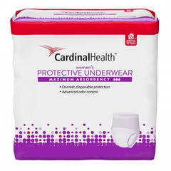 "Cardinal Health Women's Maximum Absorbency Protective Underwear, X-Large Fits 58""-68"" Waist (14), 14 Count"