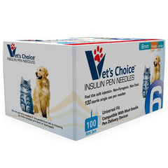 "Vet's Choice Pet Insulin Pen Needles 31G x 6mm (1/4"") - 100/bx"