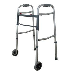 Reliamed Dual Button Folding Walker With 5 Wheels - Each