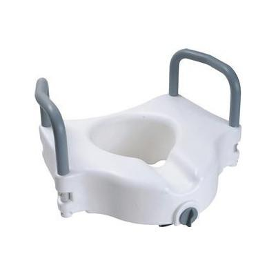 "Cardinal Health Raised Toilet Seat With Arms And Lock, 5"" - Each"