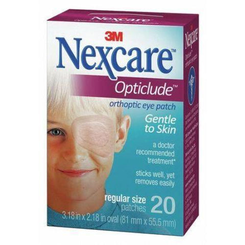 "3M Nexcare Opticlude Orthoptic Eye Patch Regular 3-1/4"" x 2-1/4"", Breathable, Latex-free (20 pcs. per box)"