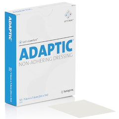 "Systagenix Adaptic Non Adhering Dressing, Sterile 5"" x 9"" - Carton of 12"