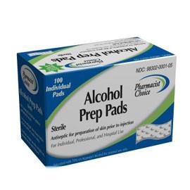Pharmacist Choice Alcohol Prep Pads - Box of 100 ct. - Total Diabetes Supply