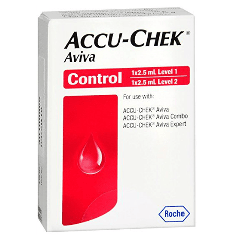 Accu-Chek Aviva Control Solution Level 1 and Level 2 - 2.5ml
