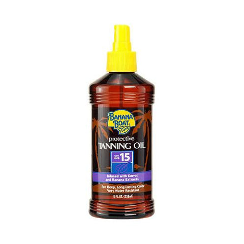 Energizer Personal Care Banana Boat Tanning Oil, Protective, Spf 15 8 Fl Oz - Each