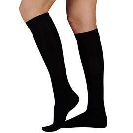 BSN Jobst ActiveWear Knee High Extra Firm Compression Socks Large, Cool Black, Closed Toe, Unisex, Latex-free - 1 Pair - Total Diabetes Supply