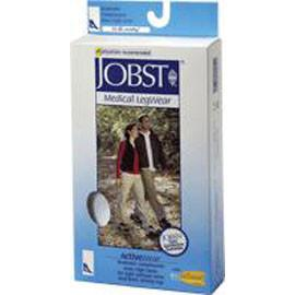 BSN Jobst ActiveWear Knee High Moderate Compression Socks Extra-Large, Cool White, Closed Toe, Unisex, Latex-free - 1 Pair - Total Diabetes Supply