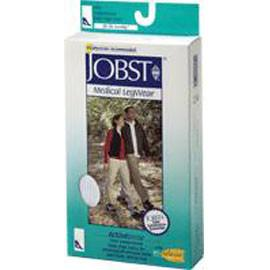 BSN Jobst ActiveWear Knee High Firm Compression Socks Medium, Cool Black, Closed Toe, Unisex, Latex-free - 1 Pair - Total Diabetes Supply