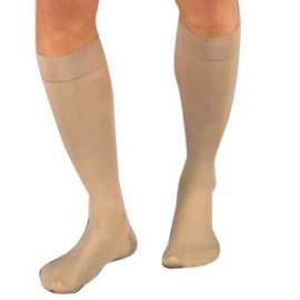 BSN Jobst Relief Knee High Firm Compression Stockings Large Silky Beige, Closed Toe, Unisex, Latex-free - 1 Pair - Total Diabetes Supply