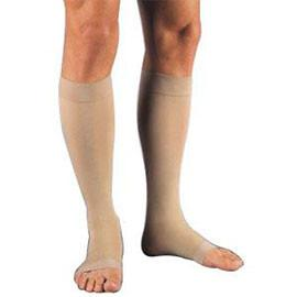 BSN Jobst Relief Knee High Firm Compression Stockings Large Full Calf, Beige, Open Toe, Unisex, Latex-free - 1 Pair - Total Diabetes Supply
