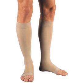 BSN Jobst Relief Knee High Extra Firm Compression Stockings Large Full Calf, Beige, Open Toe, Unisex, Latex-free - 1 Pair - Total Diabetes Supply