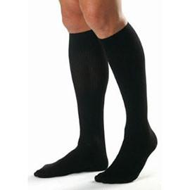BSN Jobst Relief Knee High Firm Compression Stockings Extra-Large, Black, Closed Toe, Unisex, Latex-free - 1 Pair - Total Diabetes Supply