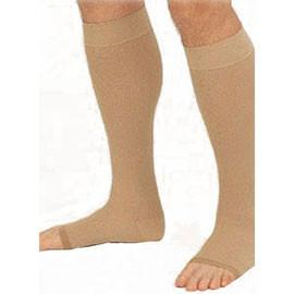 BSN Jobst Relief Knee High Moderate Compression Stockings Extra-Large, Beige, Open Toe, Unisex, Latex-free - 1 Pair - Total Diabetes Supply
