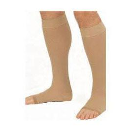 BSN Jobst Relief Knee High Moderate Compression Stockings Large Full Calf, Beige, Open Toe, Unisex, Latex-free - 1 Pair - Total Diabetes Supply