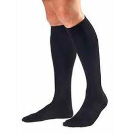 BSN Jobst Men's Knee High Ribbed Compression Socks Large, Black, Closed Toe, Latex-free - 1 Pair - Total Diabetes Supply
