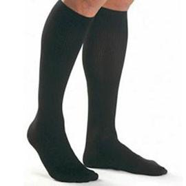 BSN Jobst Mens Knee High Ribbed Compression Socks Small, Black, Closed Toe, Latex-free - 1 Pair - Total Diabetes Supply