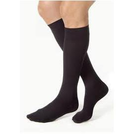 BSN Jobst Mens Knee High Ribbed Compression Socks Medium Tall, Closed Toe, Black, Latex-free - 1 Pair - Total Diabetes Supply