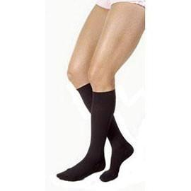 BSN Jobst Men's Knee High Ribbed Compression Socks Extra-large Full Calf, Black, Closed Toe, Latex-free - 1 Pair