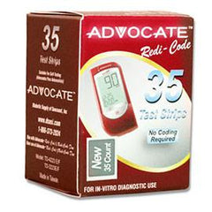 Advocate Redi-Code Plus Glucose Test Strips - 35 ct. - Total Diabetes Supply
