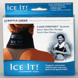 "Ice It Deluxe 4-1/2"" x 10"" Cold Therapy System for Neck/Jaw/Sinus - Total Diabetes Supply"