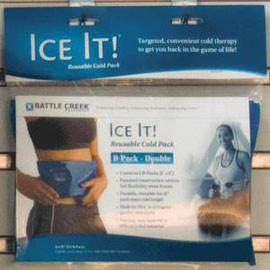 "Ice It! ColdComfort Cold Therapy Refill - B-Pack Double 6"" x 9"" Vinyl - Each - Total Diabetes Supply"