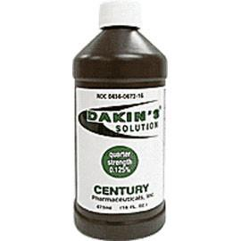 Century Pharmaceuticals Dakin's Solution Quarter Strength 125% 16 oz, Each - Total Diabetes Supply