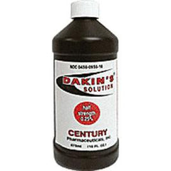 Century Pharmaceuticals Dakin's Solution 25% Wound Cleanser 16 oz, Each - Total Diabetes Supply
