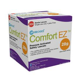 Clever Choice Comfort EZ Safety Lancets 28G - 200 ct. - Total Diabetes Supply