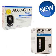 Accu-Chek Nano / SmartView Combo Kit (Includes 1 Nano Meter and 50 SmartView Strips) - Total Diabetes Supply