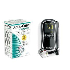 Accu-Chek Compact Plus Diabetes Monitoring Kit Combo (Meter Kit and Compact Test Strips 51ct.) - Total Diabetes Supply