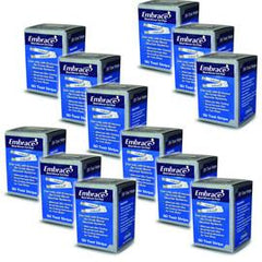 Embrace Blood Glucose Test Strips 50/bx Case of 12 - Total Diabetes Supply