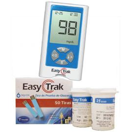 Easy Trak Blood Glucose Monitor Meter Kit Combo (Meter Kit and Test Strips 50ct) - Total Diabetes Supply